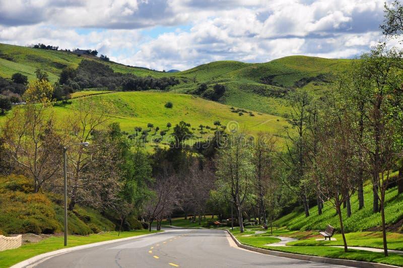 Strada delle colline del canyon immagini stock