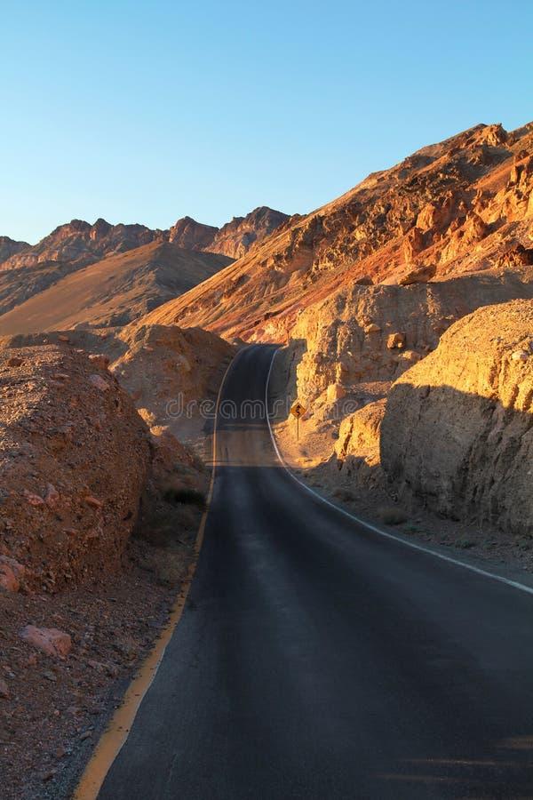 Strada in Death Valley fotografia stock