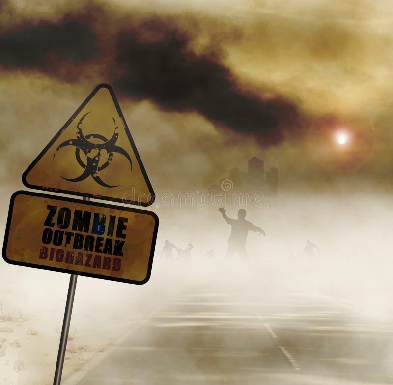 Strada degli zombie illustrazione di stock