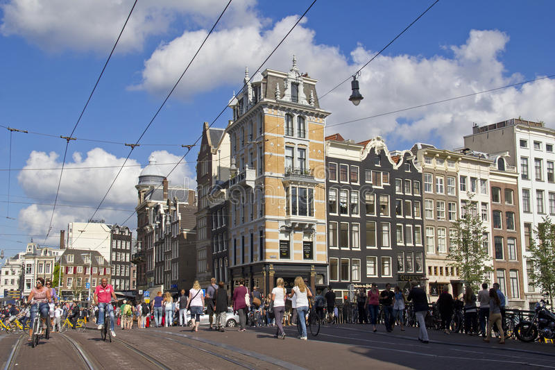 Strada dei negozi di Amsterdam fotografia stock libera da diritti