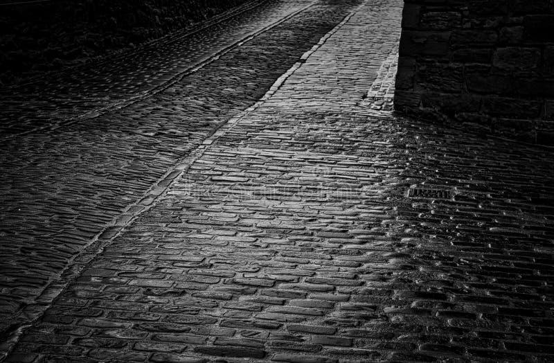 Strada del castello fotografia stock libera da diritti