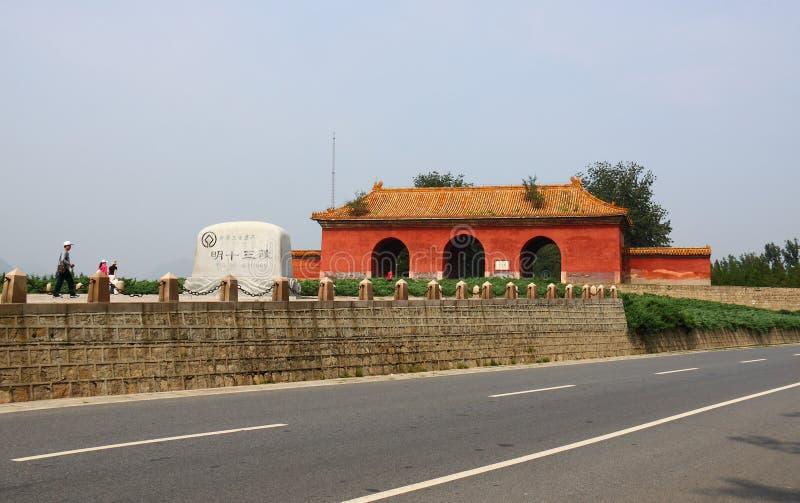 Strada del dio delle tombe di Pechino Ming fotografie stock