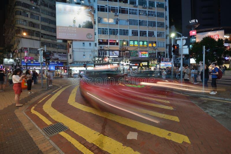 Strada del pedone di Hong Kong Transportation immagine stock libera da diritti