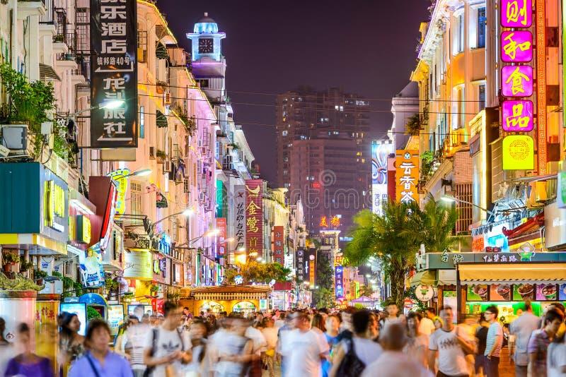 Strada del pedone di Xiamen, Cina immagine stock