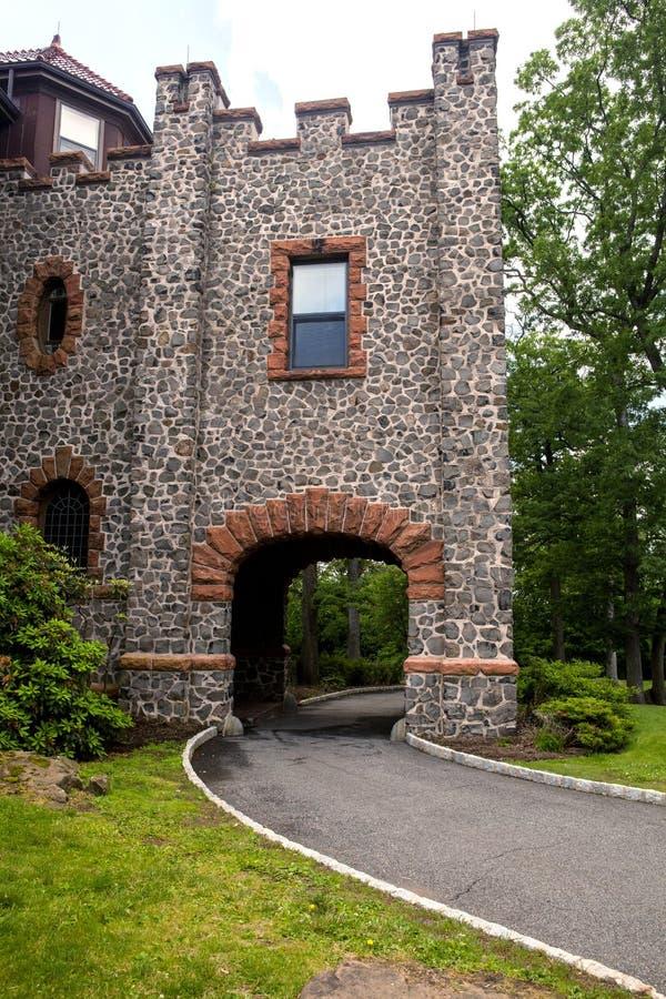 Strada del Th al castello fotografie stock