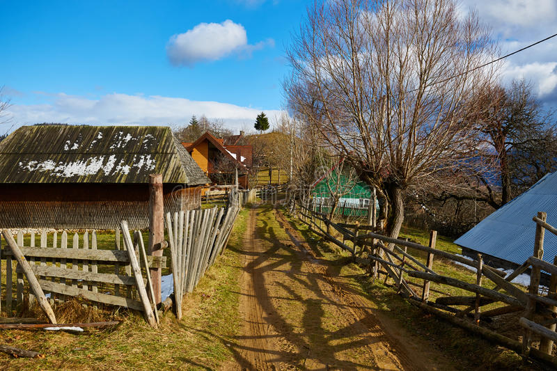 Strada del villaggio fotografie stock libere da diritti