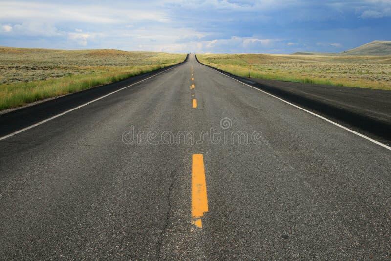 Strada del Wyoming immagine stock libera da diritti