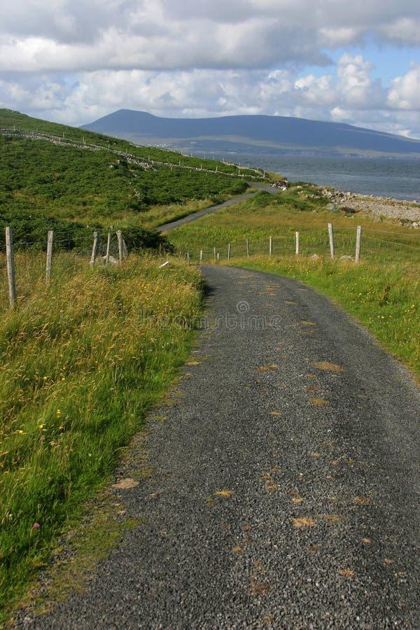 Strada dell'isola della Clare fotografia stock