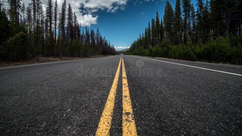 Strada dell'Oregon fotografia stock