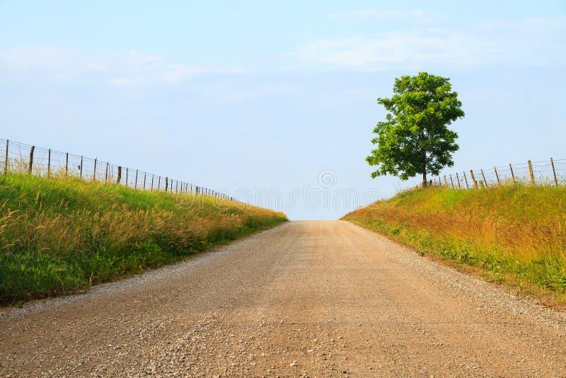 Strada della ghiaia di Midwest fotografie stock