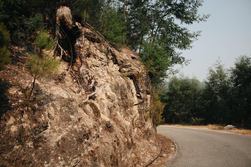Strada della montagna di Gerês Portogallo potata fotografia stock libera da diritti