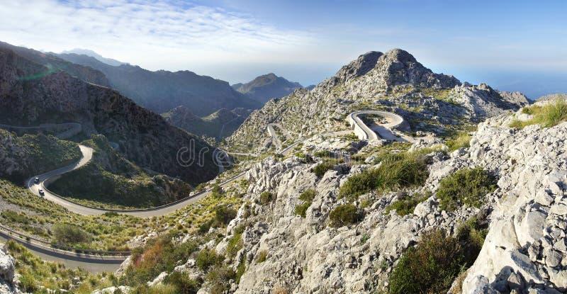 Strada della montagna - Mallorca Mallorca, Spagna immagine stock libera da diritti