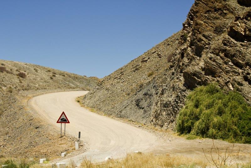 Strada della Namibia - Goanikontes immagine stock libera da diritti
