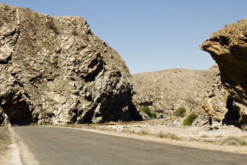 Strada della Namibia - Goanikontes fotografia stock