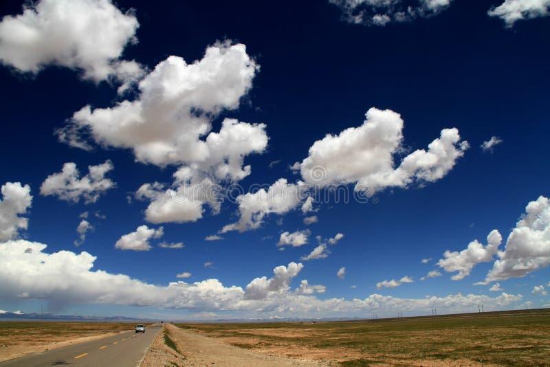 Strada della nube fotografie stock libere da diritti