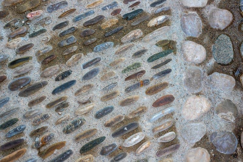 Strada della pietra del ponte, pietre per lastricati immagini stock