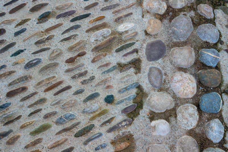 Strada della pietra del ponte, pietre per lastricati fotografia stock libera da diritti
