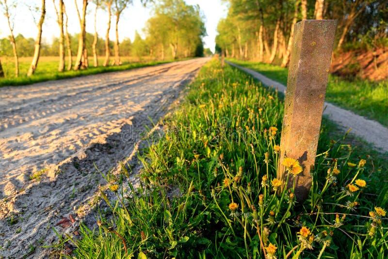 Strada della sabbia in Frisia orientale fotografie stock
