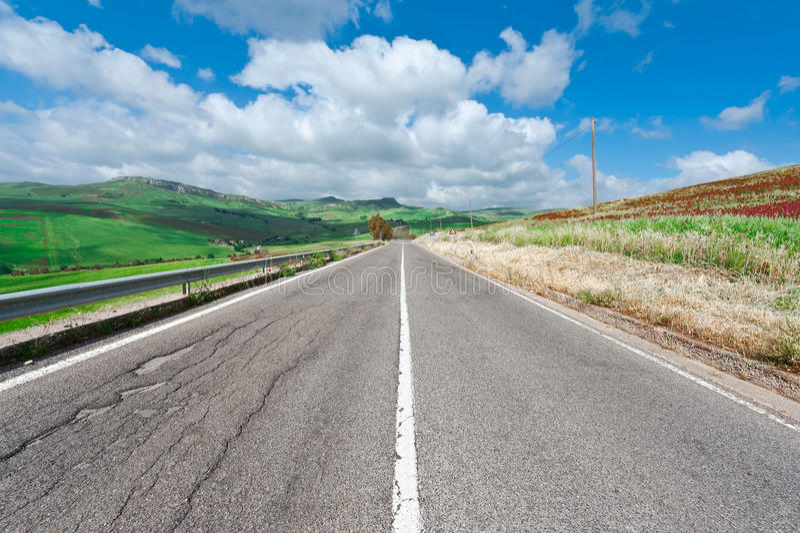 Strada della Sicilia immagine stock