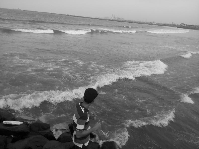 Strada della spiaggia fotografie stock libere da diritti