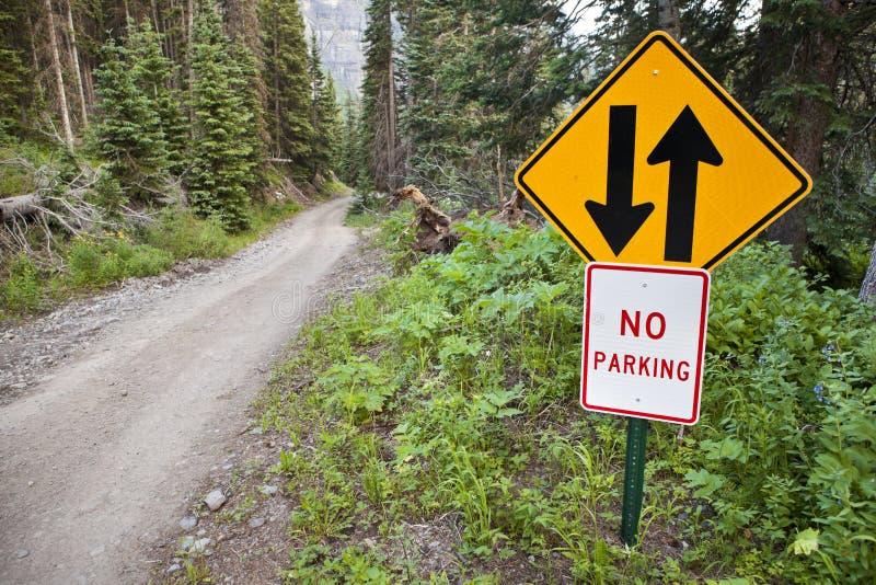 Strada delle montagne 4WD di Colorado immagini stock