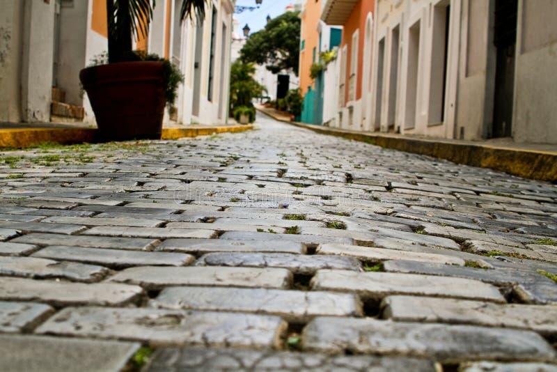 Strada delle rocce, vecchio San Juan, Porto Rico 3 immagine stock libera da diritti