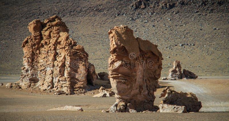 Strada 23, deserto di Atacama, Cile del Nord immagini stock libere da diritti