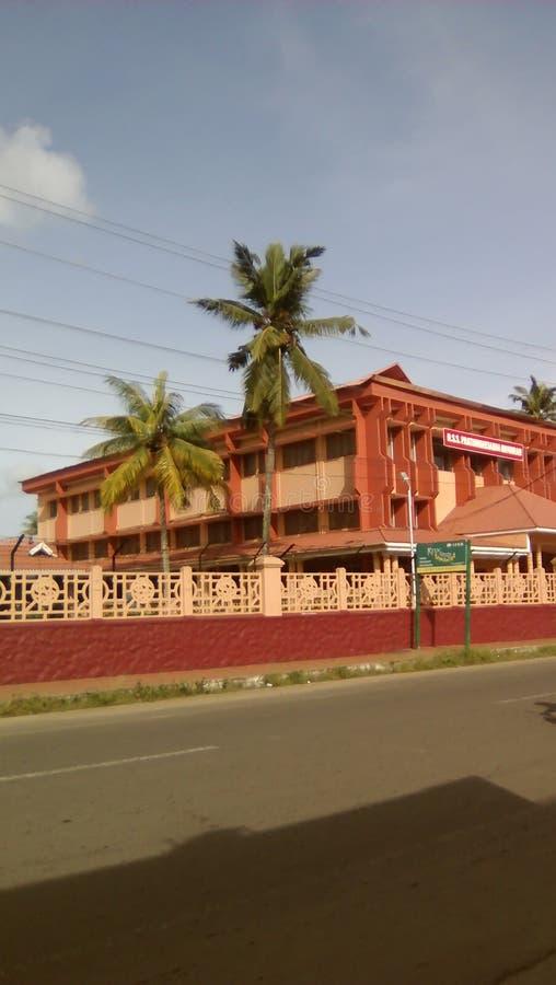 Strada di Allapuzha in Changanacherry in sole luminoso fotografie stock