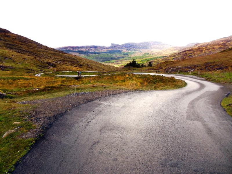 Strada di bobina in Irlanda