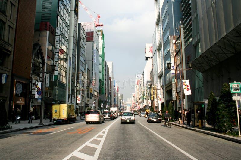 Strada di Ginza fotografia stock libera da diritti