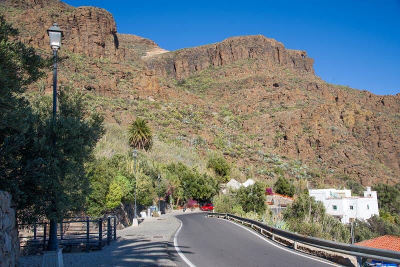 Strada di Gran Canaria immagine stock