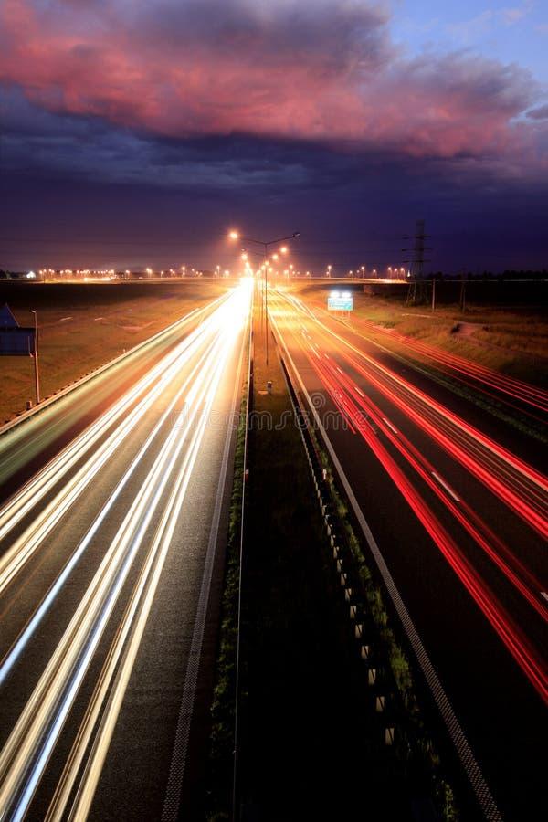 Strada di notte fotografia stock libera da diritti