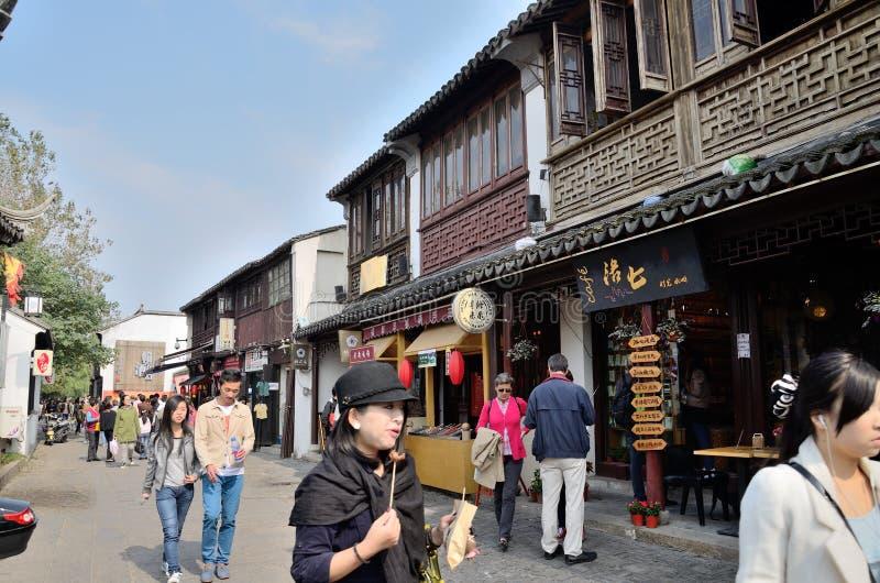 Strada di Pingjiang a Suzhou fotografia stock libera da diritti
