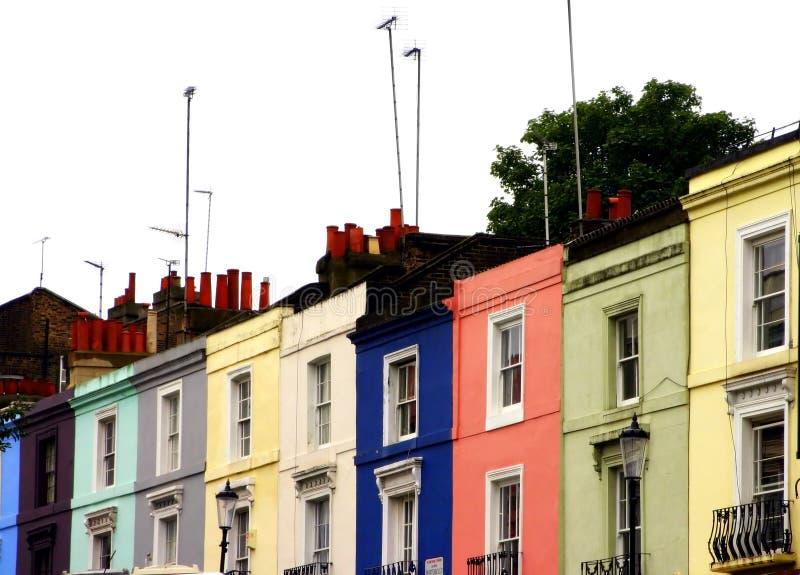 Strada di Portobello multicolore fotografia stock libera da diritti