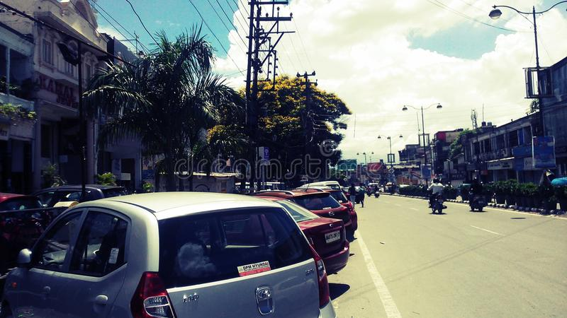 Strada di Rajpur fotografia stock libera da diritti