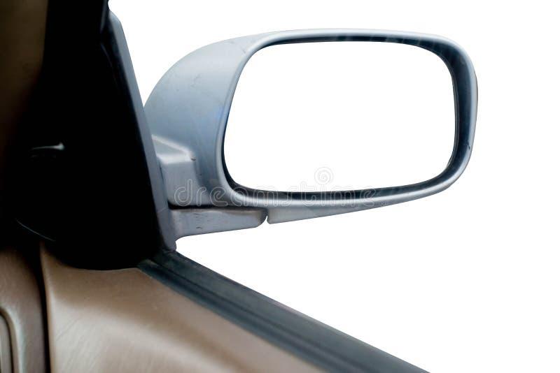Strada di riflessione al mirrow del lato dell'automobile, isolato per il montaggio creativo del paesaggio fotografia stock