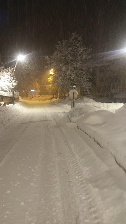 Strada di Snowy 2018 fotografia stock libera da diritti