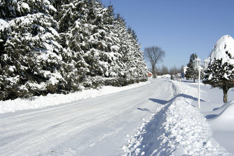 Strada di Snowy immagine stock libera da diritti