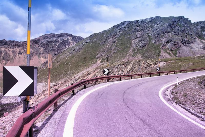 Strada di Stelvio, Italia immagine stock