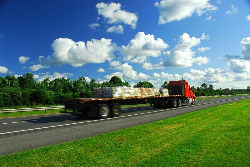 Strada di velocità del camion immagini stock