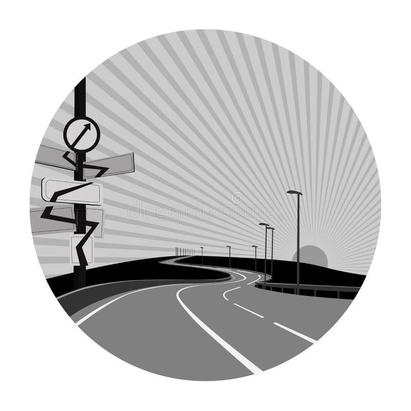 Strada di vettore royalty illustrazione gratis