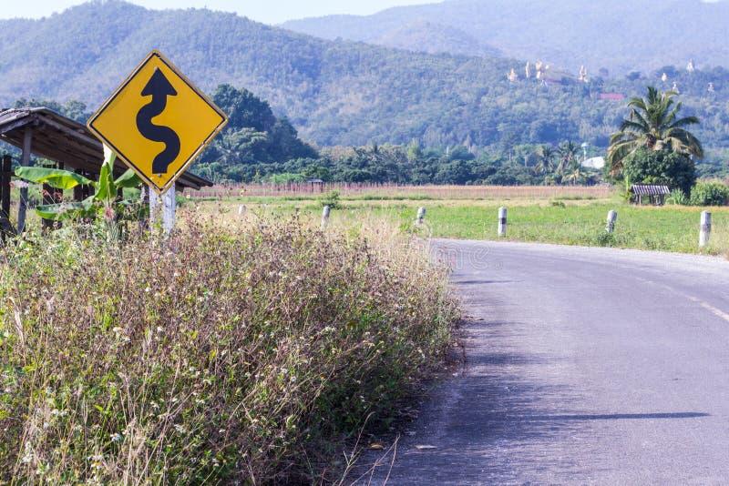Strada di Widding, campagna Tailandia Asia fotografia stock libera da diritti