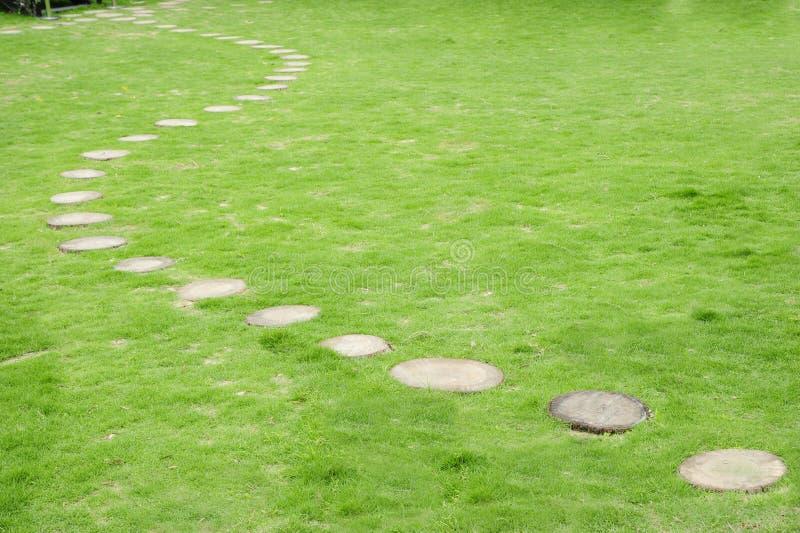 Strada in giardino fotografia stock libera da diritti
