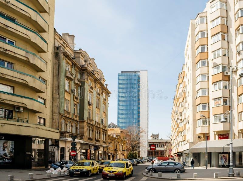 Strada H general M Berthelot en Bucarest Rumania imagen de archivo
