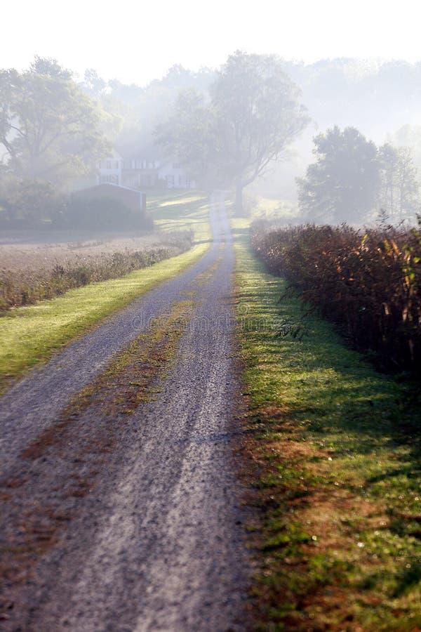 Strada Indiana della contea fotografia stock