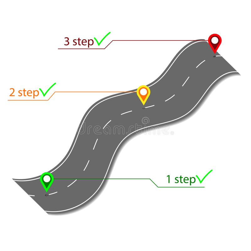Strada infographic illustrazione vettoriale
