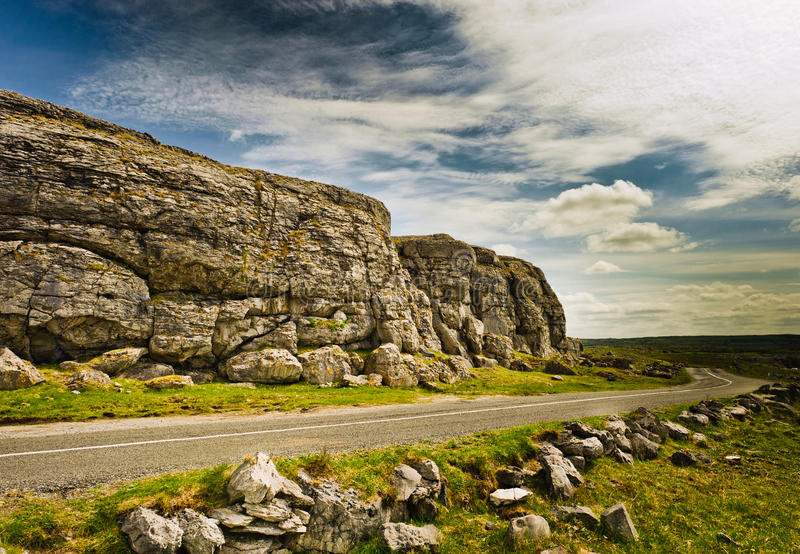 Strada in Irlanda fotografia stock libera da diritti