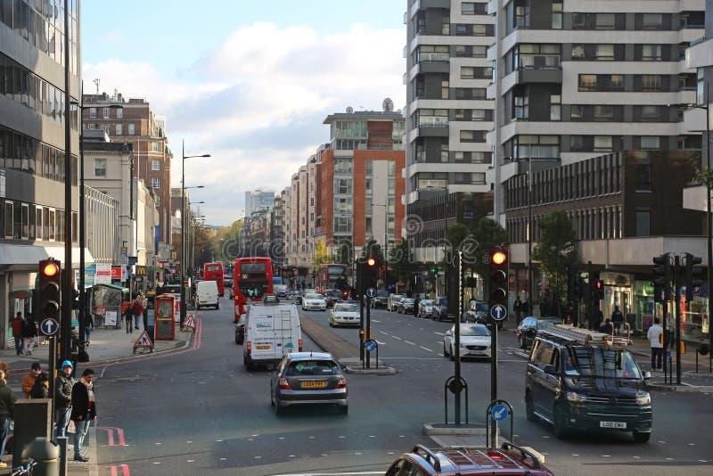 Strada Londra di Edgware fotografia stock libera da diritti