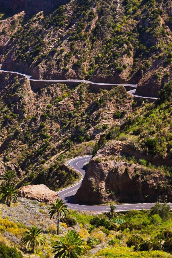 Strada nell'isola di Gomera della La - canarino fotografia stock