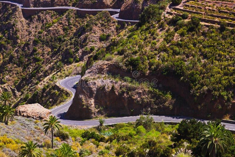 Strada nell'isola di Gomera della La - canarino fotografie stock libere da diritti